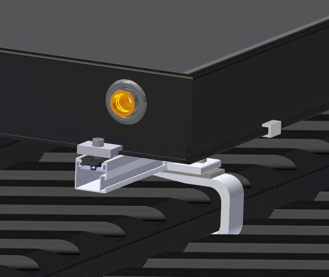 Zu sehen ist das Montage-System für Solarthermie und PhotovoltaikiakAlu-Montage-Set