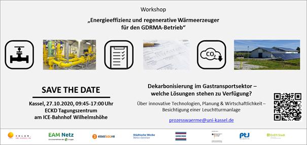 """Zu sehen ist eine Grafik zum Workshop """"Energieeffizienz und regenerative Wärmeerzeuger für den GDRMA-Betrieb""""."""