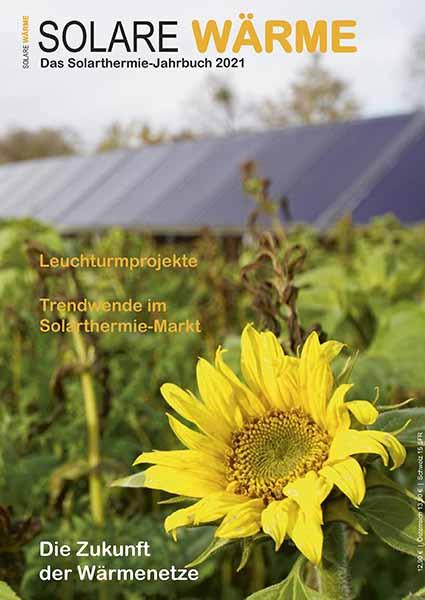 ZU sehen ist das Titelbild vom Solarthermie-Jahrbuch 2021