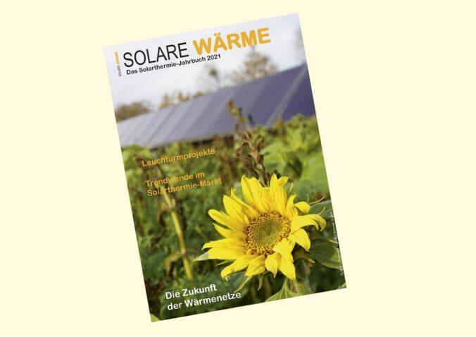 Zu sehen ist das Solarthermie-Jahrbuch Solare Wärme 2021