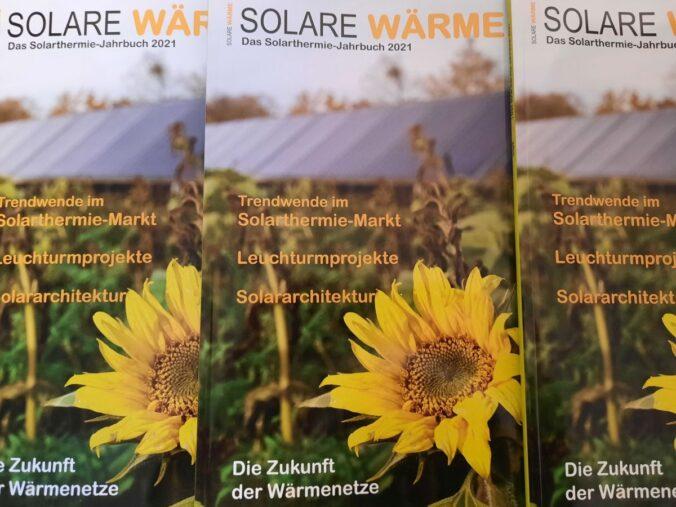 Das Solarthermie-Jahrbuch SOLARE WÄRME ist seit dem 22. März erhältlich.