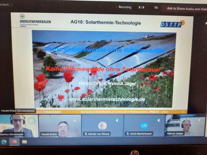 Harald Drück und Helmut Jäger auf dem Solarthermie Symposium